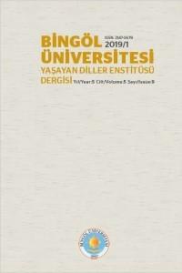 Bingöl Üniversitesi Yaşayan Diller Enstitüsü Dergisi