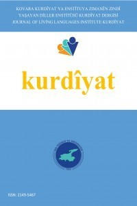 Yaşayan Diller Enstitüsü Kurdiyat Dergisi