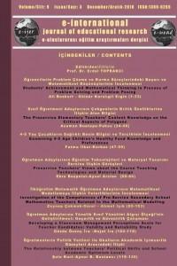 e-Uluslararası Eğitim Araştırmaları Dergisi