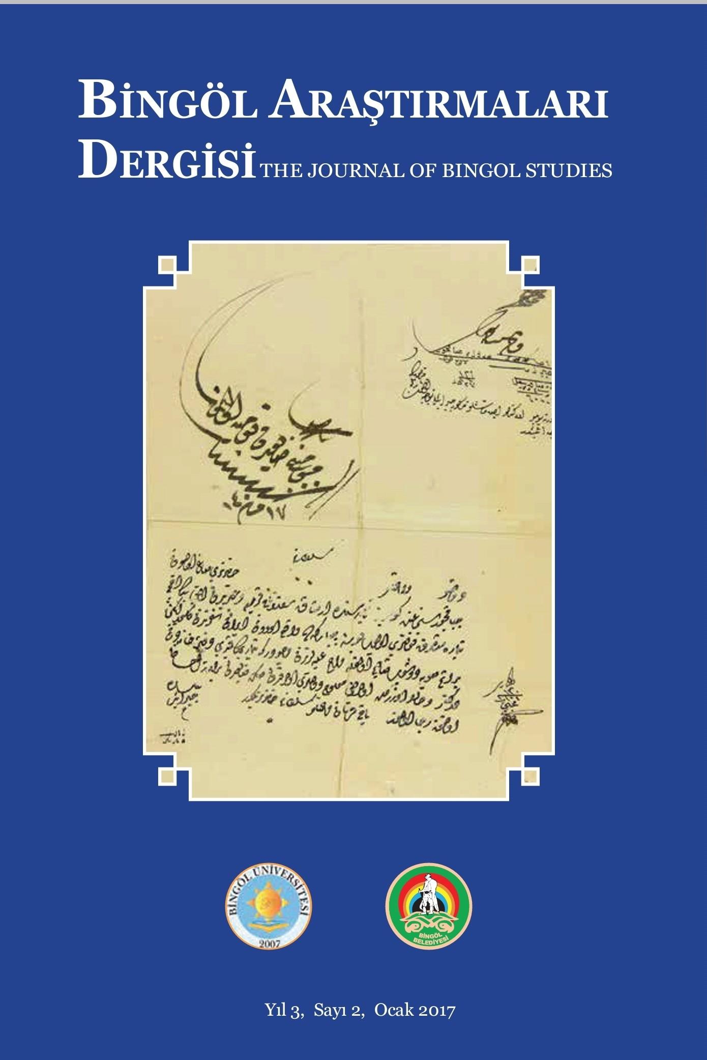 The Journal of Bingöl Studies